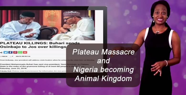 Plateau Massacre and Nigeria becoming Animal Kingdom