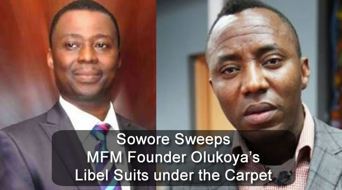Sowore Sweeps MFM Founder Olukoya's Libel Suits under the Carpet