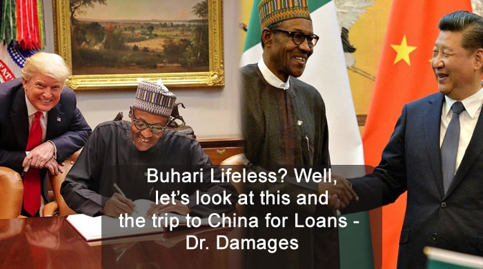 Buhari Lifeless? Well, let's look at this and the trip to China for Loans - Dr. Damages