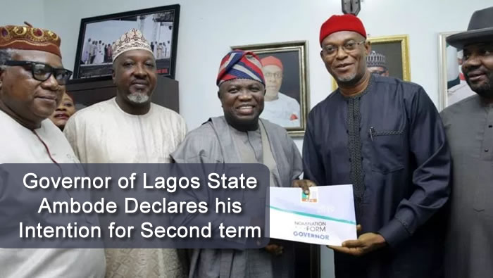 Governor of Lagos State Ambode Declares his Intention for Second term