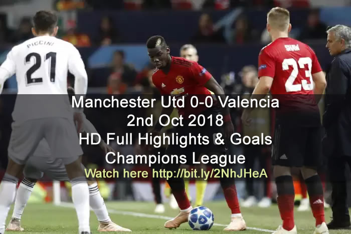 Manchester Utd 0-0 Valencia | 2nd Oct 2018 | HD Full Highlights & Goals - Champions League