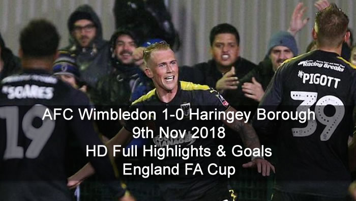 AFC Wimbledon 1-0 Haringey Borough | 9th Nov 2018 | HD Full Highlights & Goals - England FA Cup