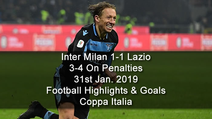 Inter Milan 1-1 Lazio | 3-4 On Penalties | 31st Jan. 2019 - Football Highlights and Goals - Coppa Italia