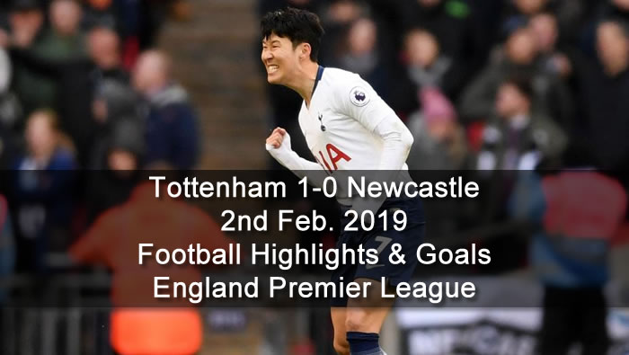 Tottenham 1-0 Newcastle - 2nd Feb. 2019 - Football Highlights and Goals - England Premier League