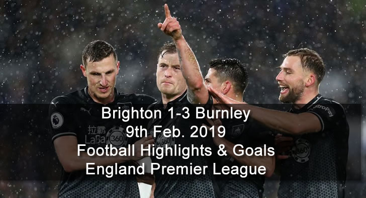 Brighton 1-3 Burnley - 9th Feb. 2019 - Football Highlights and Goals - England Premier League