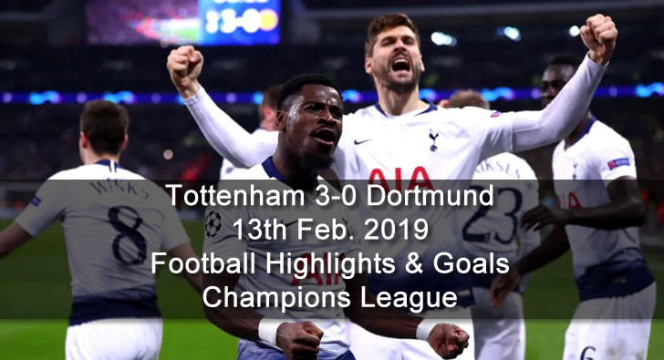Tottenham 3-0 Dortmund - 13th Feb. 2019 - Football Highlights and Goals - Champions League