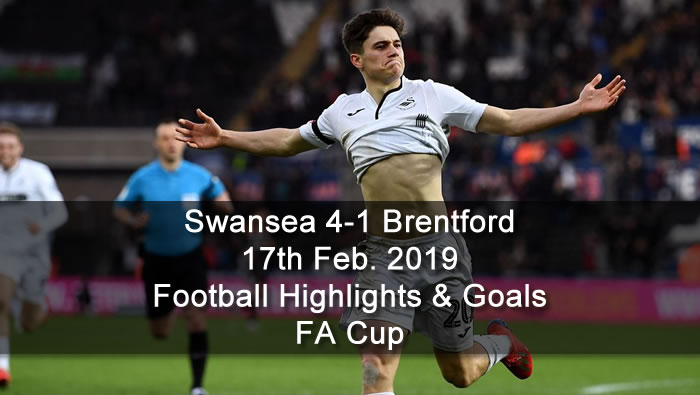 Swansea 4-1 Brentford - 17th Feb. 2019 - Football Highlights and Goals - FA Cup