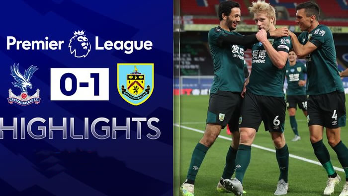 Crystal Palace 0-1 Burnley - 29th Jun 2020 - Football Highlights and Goals - England - Premier League