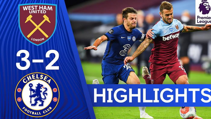 West Ham 3-2 Chelsea - 1st Jul 2020 - Football Highlights and Goals - England - Premier League