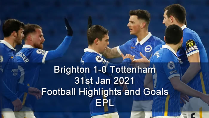 Brighton 1-0 Tottenham - 31st Jan 2021 - Football Highlights and Goals - EPL