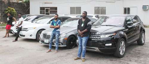 Baby Boys EFCC ends luxurious life of Lekki Yahoo Boys nabbed with expensive Benz & juju.