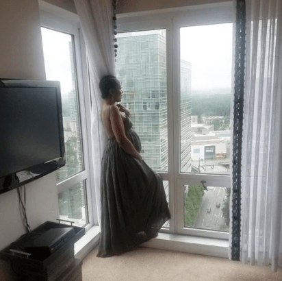 LINDA IKEJI  IN ATLANTA FOR BIRTH OF HER FIRST CHILD
