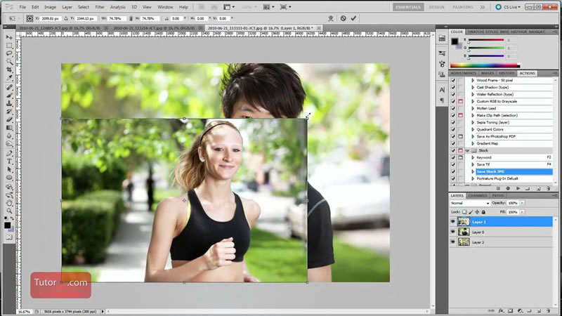 How to increase / decrease the size of an image in Photoshop